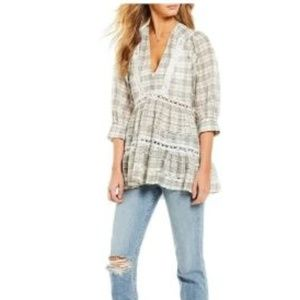 Free People Time Out Lace Tunic *NWT* Ivory Combo